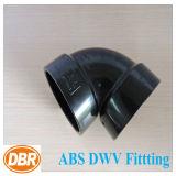 ABS Dwv de taille de 3 pouces ajustant 1/4 courbure courte