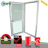 Puerta plástica del vidrio del oscilación de la doble vidriera del aislante de calor de UPVC sola