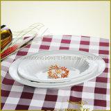 Líneas radiales occidentales del conjunto de cena con series curvadas del borde