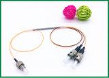 diviseur protégé par fusible par connecteur du couplage FC/Upc de fibre de mode unitaire de 1X2 1550nm