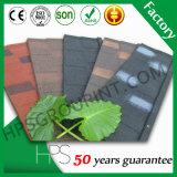 Hoja revestida del material para techos de la piedra del azulejo de azotea de la ripia con alta calidad