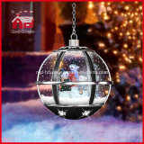 LED를 가진 상한 Christmas Gifts Hanging Snow Globe Light