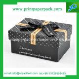 堅いリボンのボール紙の優雅なギフト用の箱