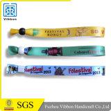 Wristband promozionale di sublimazione del raso di evento di marchio di colore completo