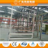 De Geluiddichte Schuifdeur van uitstekende kwaliteit van het Glas van het Aluminium van het Ontwerp met Verglaasd Dubbel