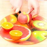 En blanco de vidrio recubierto de cristal fruta Tabla de cortar para la sublimación