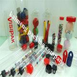 贅沢なデザインハンドル(PVC管)が付いている球のパッケージのための絹によって印刷される明確なプラスチックPVC管