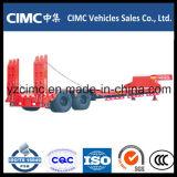 Cimc 3半車軸70ton油圧傾斜路が付いている低いベッドのトレーラー