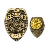 Insignia dura de la policía del oro del esmalte