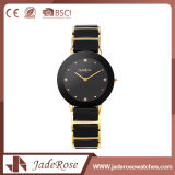 Impermeable negro retro aleación acero inoxidable cuarzo Advance Watch