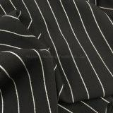 Streifen-Satin des Polyester-Hzf858 Chiffon- für Kleid der Frauen