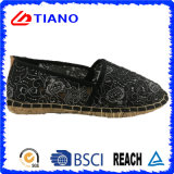 Zapatos planos y cómodos de la venta caliente del pescador de las sandalias de las mujeres (TN36701)