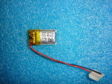 Cellule de batterie rechargeable de Li-Polymère 4.8X12X20mm 80mAh 3.7V avec le PCM et les fils