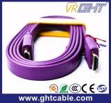 Câble plat 1.4V de la qualité HDMI