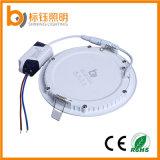 12W는 중단한 천장 AC85-265V 둥근 최고 얇은 알루미늄 LED 위원회 빛을 체중을 줄인다