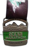 Sport-Preis-Medaille für Marathon, weicher Decklack, Abzuglinie, Carolina Brewsfest
