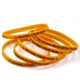 Wristband sottile del silicone di stampa su ordinazione per l'evento