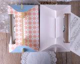 Kundenspezifischer Firmenzeichen gedruckter Kasten 6/4paper für kleinen Kuchen/Tortenschachtel/Kuchen-Kasten mit freiem Plastik-Belüftung-Fenster
