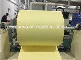 Papier jaune/blanc de desserrage de silicones
