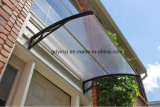 De zilveren Luifel van de Regen van de Zon van de Vleugel Plastic Afbaardende Materiële met de MiddenStrook van het Aluminium (100Hollow- blad)