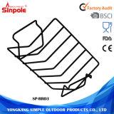 Aço inoxidável portátil retangular de assar aço inoxidável