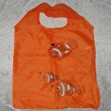ポリエステル再使用可能なEcoの友好的なFoldableスーパーマーケットのショッピング・バッグ