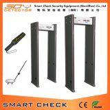 Detetor de metais do frame de porta do preço do detetor de metais da segurança de 6 zonas