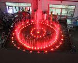 Fontein van het Water van de Muziek van de Verkoop van het roestvrij staal de Gehele Binnen met Kleurrijke LEIDEN Licht