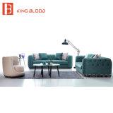 Sofá de Loveseat de la tela del color verde de Modenr el mini fijó para la sala
