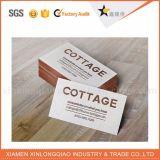 Cartão conhecido chapeado dos cartões de papel do OEM de China impressão feita sob encomenda