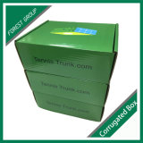 Caisse d'emballage verte de chaussure de papier d'imprimerie