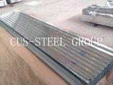 Perfil revestido do revestimento do zinco/folha ondulada telhadura do metal