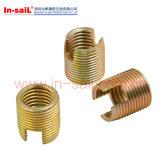 Стандартные допуски с Дн-Прорезанной гайкой вставки для материала металла