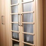 Moderne heiße Verkaufs-Melamin-Garderobe mit Glastür