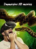 Vidrios atractivos de la realidad virtual 3D del rectángulo 3D de Vr de la muchacha de Japón
