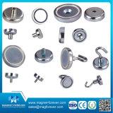De Magneten van de Pot van het neodymium/Kop van Magneten met Verzonken Gaten, Haken