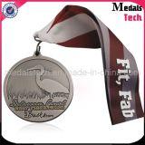 Medalhas feitas sob encomenda do país transversal do metal do Sandblast de prata antigo