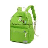 Sac d'école mignon vert de sac à dos de gosse de carton
