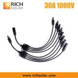 Connettore di cavo solare ricco del comitato solare di Mc4y 30A DC1000V