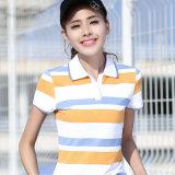Klassische Streifen-Form-Marke des kundenspezifischen Firmenzeichen-Polo-Hemdes durch China
