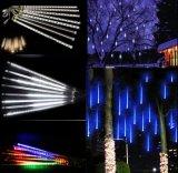 Luz aprovada da câmara de ar da gota da chuva do chuveiro de meteoro Ce/RoHS do diodo emissor de luz 8PCS/Set 144LEDs