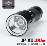 Alta LED torcia elettrica luminosa di immersione subacquea professionale con CREE Xm-L2 LED