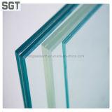 6.38mm прокатанное защитное стекло с зеленым PVB