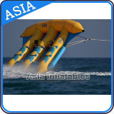 PVC Tarpaulin Inflável Flying Fish Tube Towable / Inflável Water Games Flyfish Banana Boat for Sea