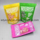 La venta caliente se levanta la bolsa con la cremallera para las tuercas/las frutas/el alimento de bocado secados