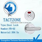 Calidad superior de 304 grados de acero inoxidable de reparto WC cerradura de puerta