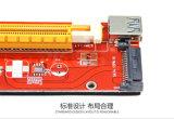 16X 라이저 접합기 카드에 15 Pin SATA Ver007s PCI-E 1X