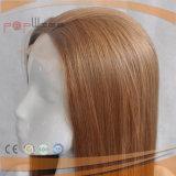 Grampos da parte traseira do estilo do pente da parte dianteira do laço de Wefted na peruca do cabelo humano
