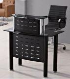 Стеклянная верхняя офисная мебель стола офиса приема самомоднейшая (HX-GL209)