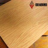 Ideabond Ae 308 실내 클래딩 벽 훈장 Woode 완료 PE 알루미늄 복합 재료